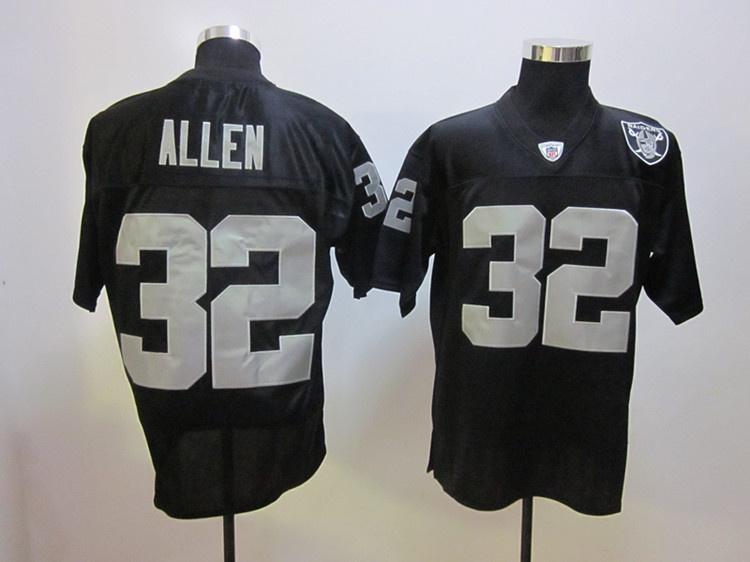 Oakland Raiders 32 ALLEN throwback black Jerseys