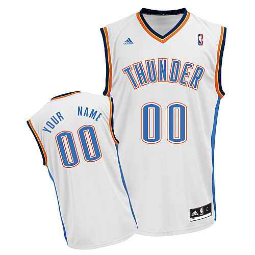 Oklahoma City Thunder Youth Custom white Jersey