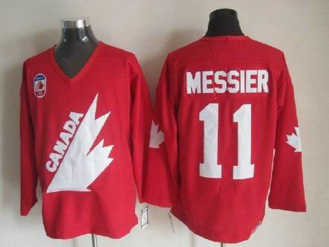 Olympic Team Canada 11 Messier Red CCM Jerseys