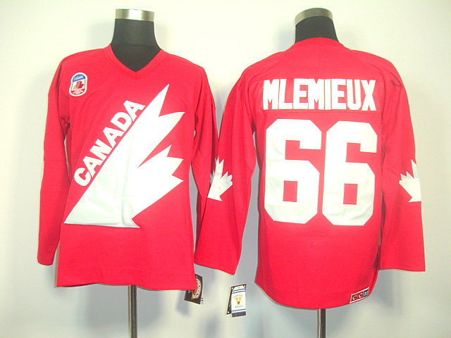 Olympic Team Canada 66 Mlemieux Red CCM Jerseys