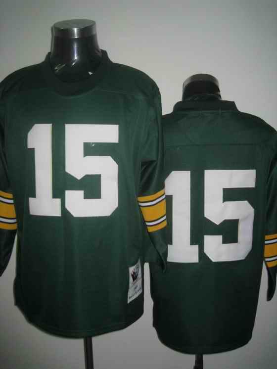 Packers 15 Bart Starr green Throwback Jerseys