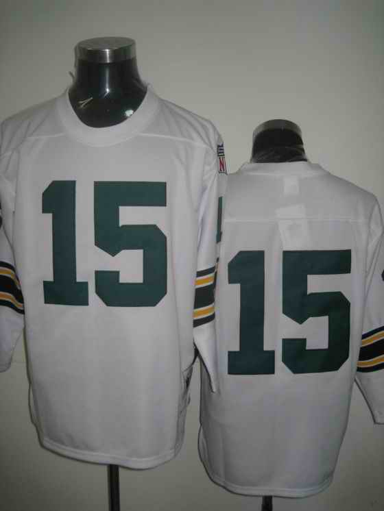 Packers 15 Bart Starr white 1969 Throwback Jerseys