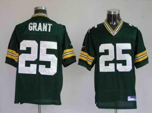 Packers 25 Ryan Grant Premier Green Jerseys