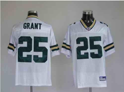 Packers 25 Ryan Grant Premier White Jerseys