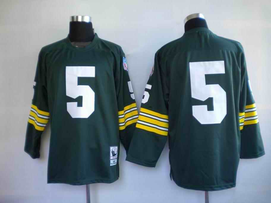 Packers 5 Horning green Throwback Jerseys