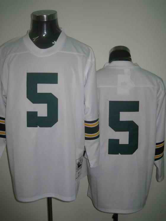 Packers 5 Horning white Throwback Jerseys