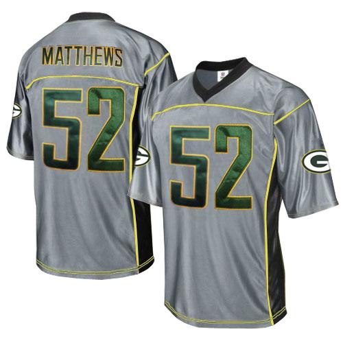 Packers 52 Matthews Grey Jersey