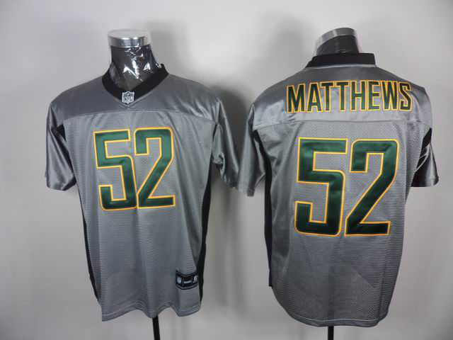Packers 52 Matthews Grey Jerseys