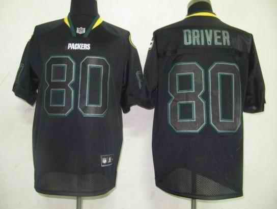 Packers 80 Driver black field shadow Jerseys