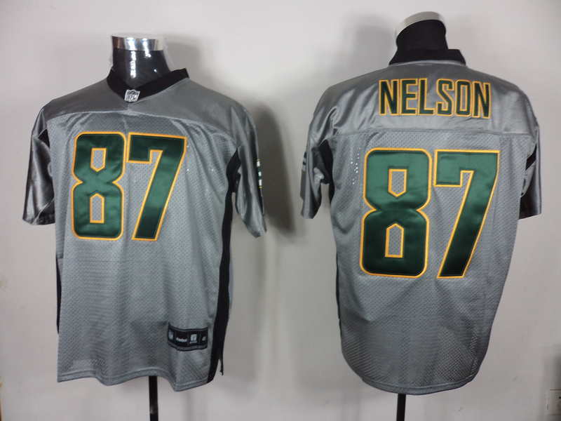 Packers 87 Nelson Grey Jerseys