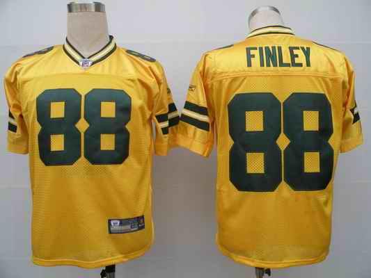 Packers 88 Jermichael Finley yellow Jerseys
