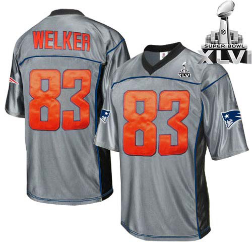 Patriots 83 Welker Grey 2012 Super bowl Jerseys
