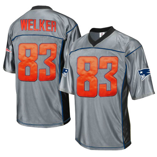 Patriots 83 Welker Grey Jersey