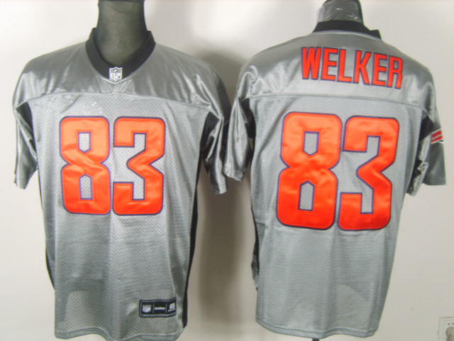 Patriots 83 Welker Grey Jerseys
