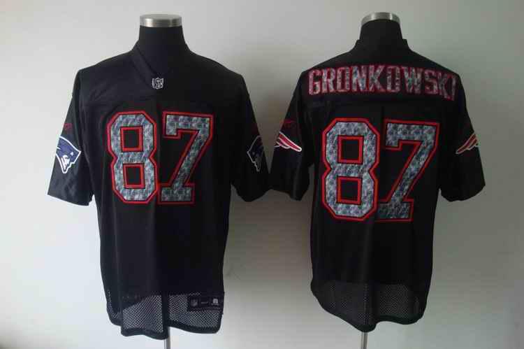 Patriots 87 GRONKOWSKI Black united sideline jerseys