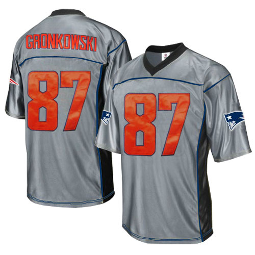 Patriots 87 Gronkowski Grey Jersey