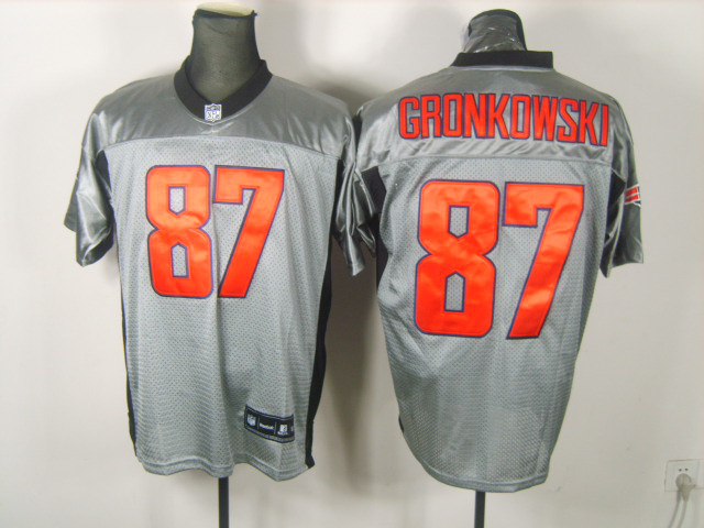 Patriots 87 Gronkowski Grey Jerseys