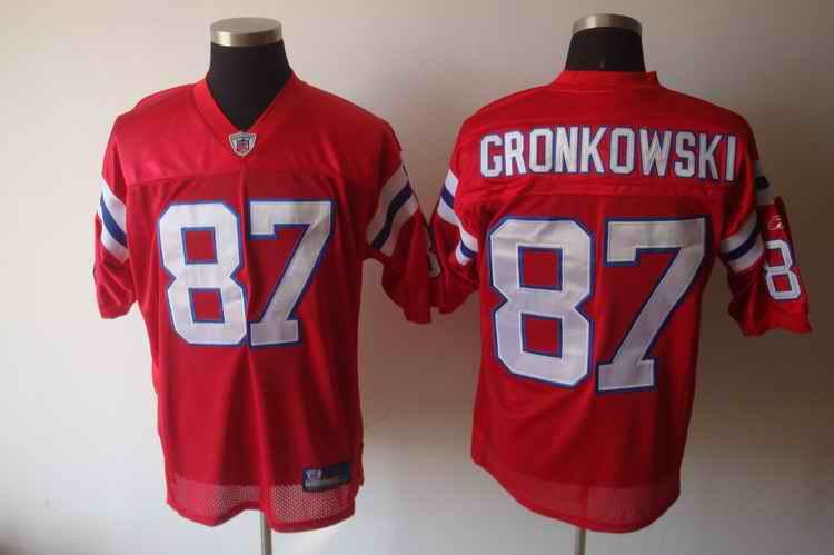 Patriots 87 Gronkowski Red Jerseys