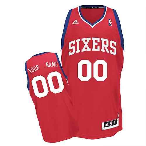 Philadelphia 76ERS Custom Swingman red Road Jersey