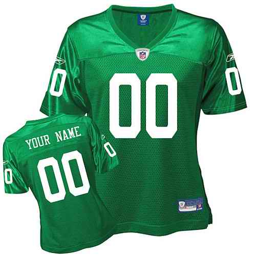 Philadelphia Eagles Women Customized 1960 Green Jersey