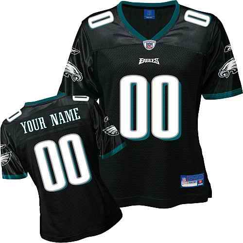 Philadelphia Eagles Women Customized Black Jersey