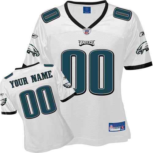 Philadelphia Eagles Women Customized White Jersey