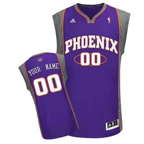 Phoenix Suns Custom Swingman purple Road Jersey