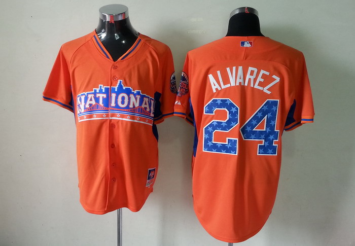 Pirates 24 Alvarez orange 2013 All Star Jerseys