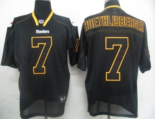 Pittsburgh Steelers 7 Ben Roethlisberger black field shadow Jerseys