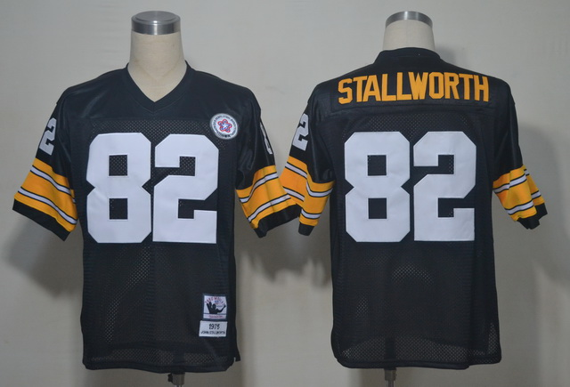 Pittsburgh Steelers 82 Stallworth Black Throwback Jerseys