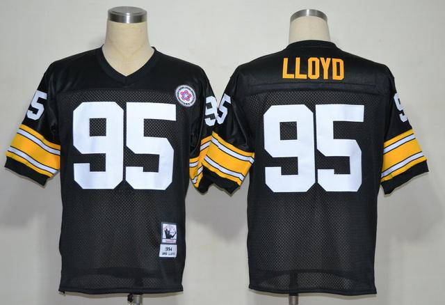 Pittsburgh Steelers 95 Greg Lloyd Black M&N 1994 Jerseys