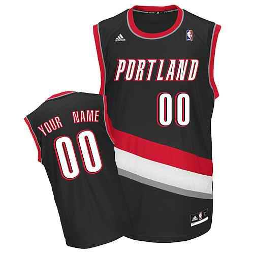 Portland Trail Blazers Custom black adidas Road Jersey