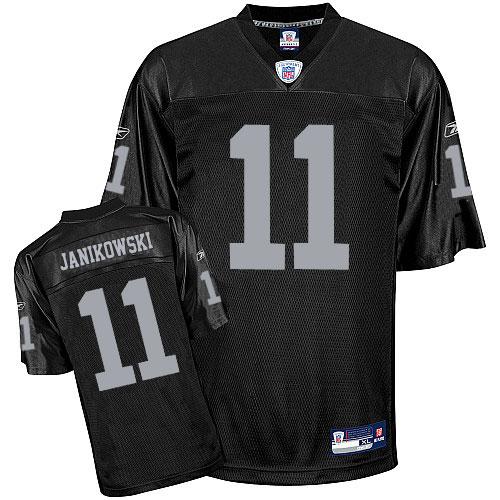 Raiders 11 JANIKOWSKI Black Jerseys