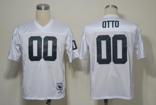 Raiders 00 OTTO White Throwback Jerseys