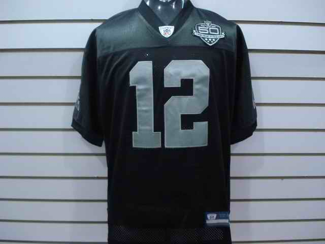 Raiders 12 Darrius Heyward-Bey 50th Anniversary black jerseys