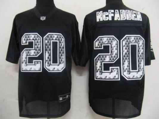 Raiders 20 Darren McFadden black united sideline Jerseys
