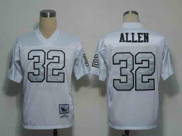 Raiders 32 Allen White silver number Jerseys