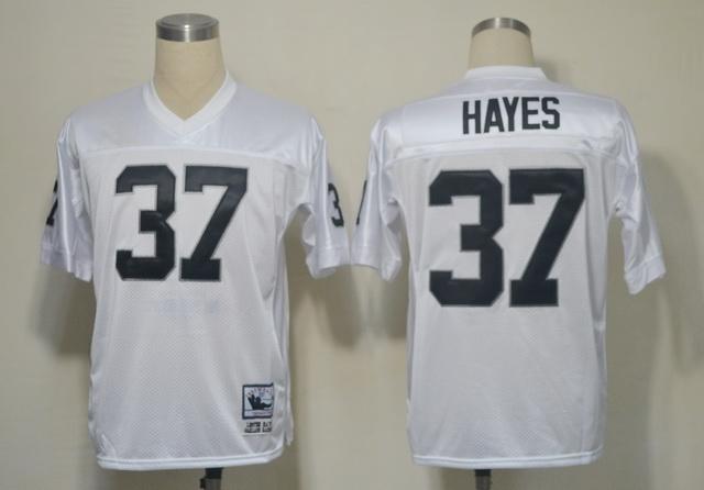 Raiders 37 Hayes White M&N Jerseys