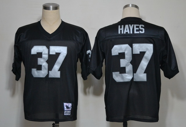 Raiders 37 Lester Hayes Black M&N Jerseys