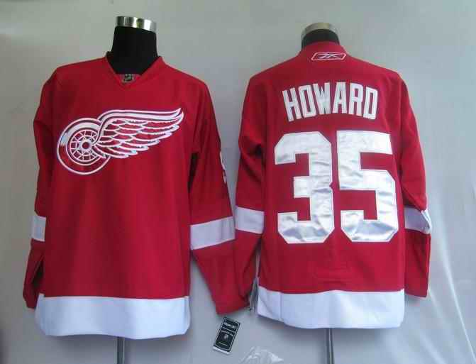 Red Wings 35 Hdward Red Jerseys