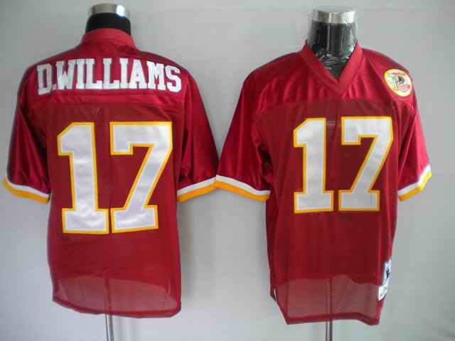 Redskins 17 D.williams red 50th Throwback Jerseys