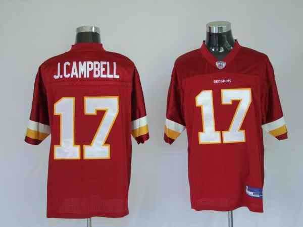 Redskins 17 Jason Campbell red Jerseys