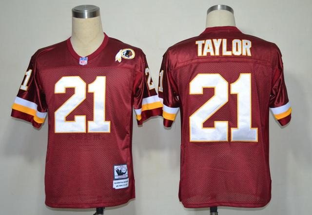 Redskins 21 Sean Taylor Red Throwback Jerseys