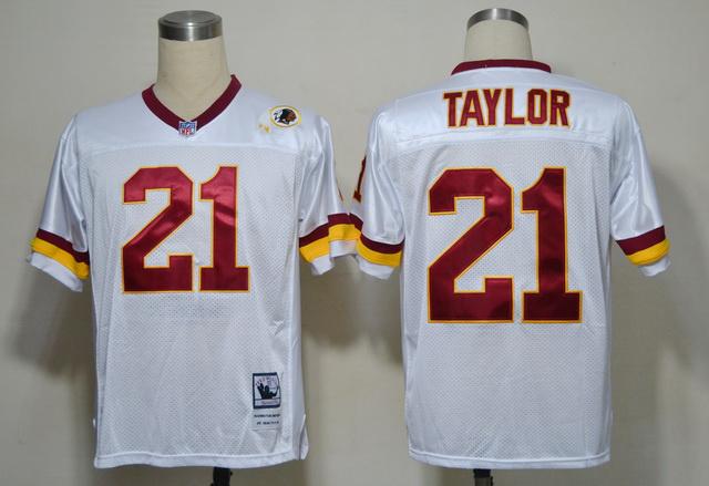 Redskins 21 Sean Taylor White Throwback Jerseys