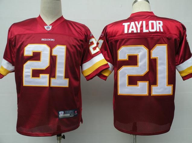 Redskins 21 Taylor Red Jerseys