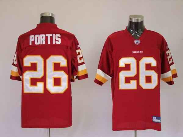 Redskins 26 Clinton Portis red Jerseys