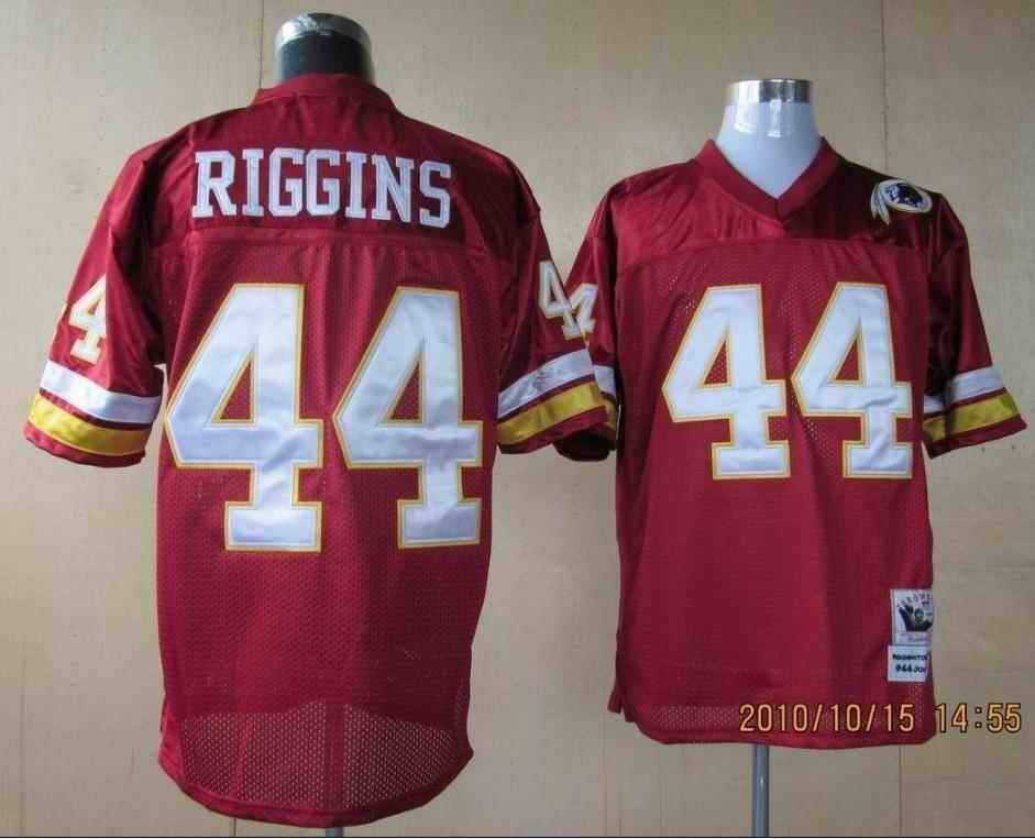 Redskins 44 John Riggins red Throwback Jerseys