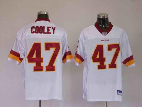 Redskins 47 Chris Cooley white Jerseys