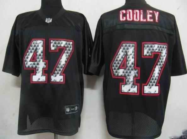 Redskins 47 Cooley black united sideline Jerseys