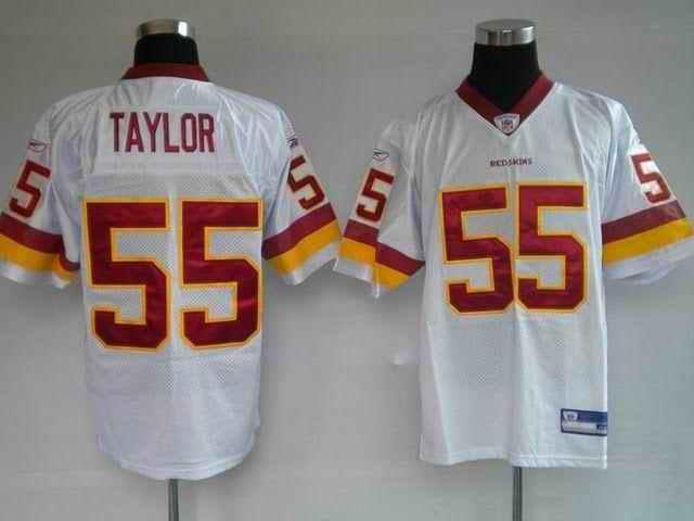 Redskins 55 Jason Taylor white Jerseys